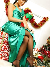 Lily looking perfect in her evening dress at Christmas