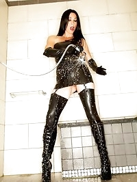Latex stockings, dress, gloves and anal squirting from my..