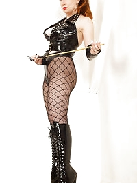 PVC boots and panties