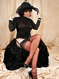 Lusty babe wears her finest clothes