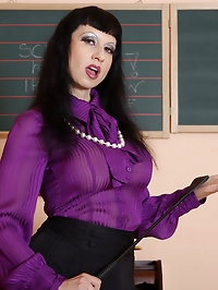 busty cfnm strapon mistress in pantyhose and sexy clothes