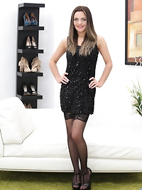 A miniskirt black dress lets 26 year old Dominica Phoenix..