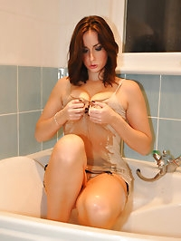 Paige lets her fetish side run wild gets in to the shower..