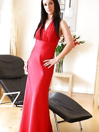 Sarah B looking stunning in elegant evening dress.