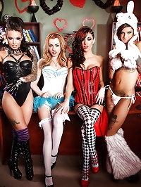 Lexi Belle, Gia Dimarco, Christy Mack, Bonnie Rotten..