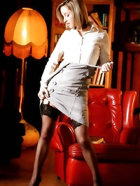 Prestige at OnlyTease with Melanie in a sexy secretary..