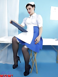 Saucy nurse Jocelyn-Kay is healing you with a striptease