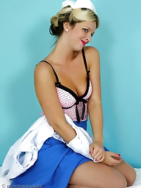 Saucy blonde Nurse Zuziana raises your temperature as she..