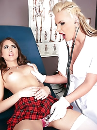 Phoenix Marie, Riley Reid Pictures in Nailed by the School..