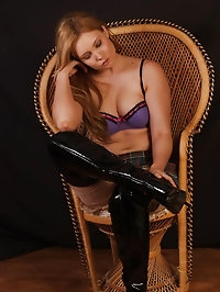 Horny blonde Louise leaves nothing to the imagination..