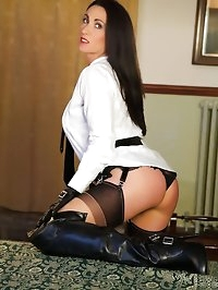 Miss Hybrid Leather Boots and Gloves