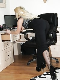 nylon surprise under office trousers