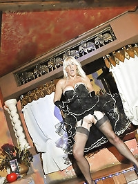 Stocking MILF Astrid shows off her moves in a top Tenerife..