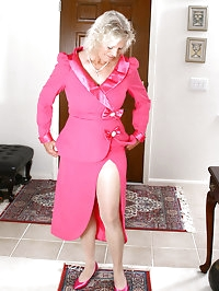 Elegant 59 year old Michelle V from AllOver30 looks hot as..