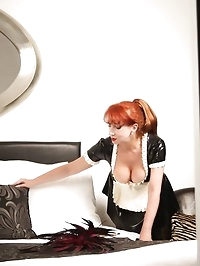French maids uniform, nylons and killer heels - not house..