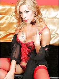 Lady in red nylon