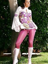 Glamour model wears lots of pink
