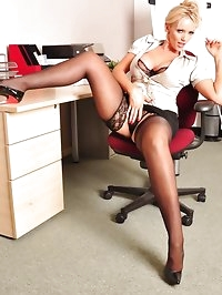 I bet you wish hot blonde Lucy Zara was working in your..