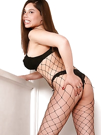33 year old Luccia from AllOver30 wearing fishnets and..