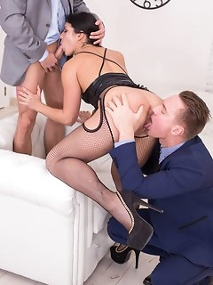 Threesome Nylon Porn