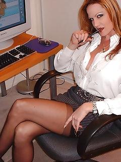 Office Nylon Porn