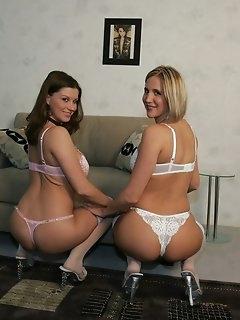 Lesbian Nylon Porn